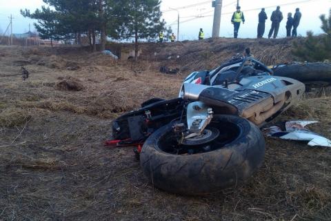 Появились фото ДТП вИваново, где мотоциклист разбился наскорости 200 км/ч