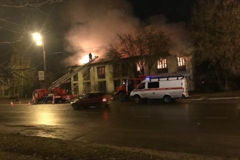 ВИванове горел нежилой многоквартирный дом наулице Фрунзе