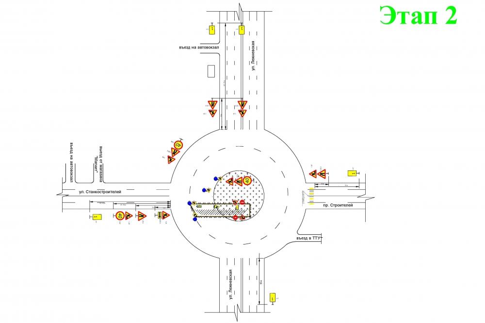 На кольце у автовокзала с 22 июня ограничат движение транспорта (СХЕМЫ ПРОЕЗДА)